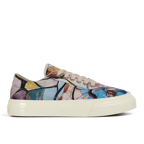 Women's Dellow Canvas Cracked Earth Side