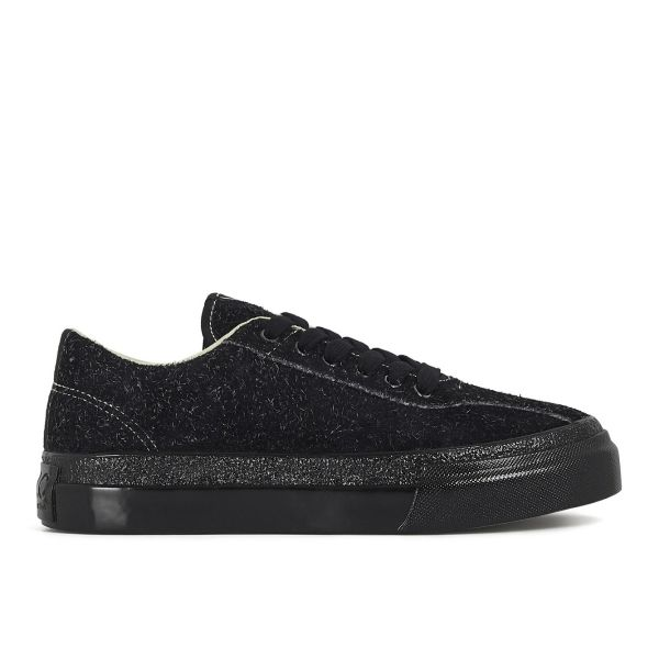Womens Dellow Hairy Suede Black Side