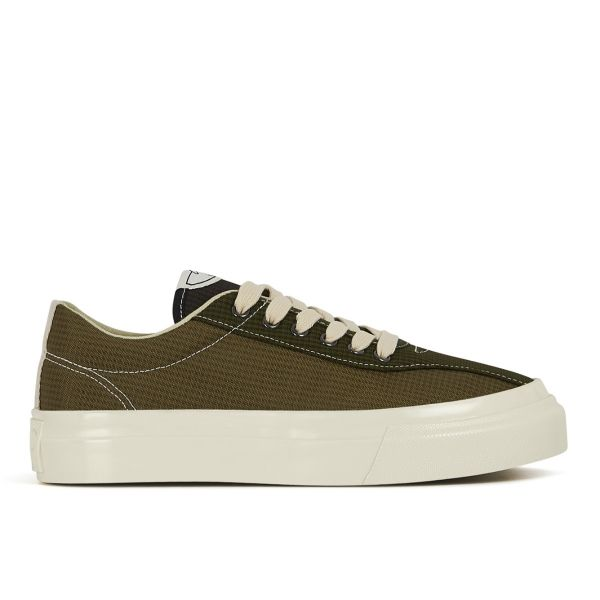 Womens Dellow Mini-Check Nylon Olive Side