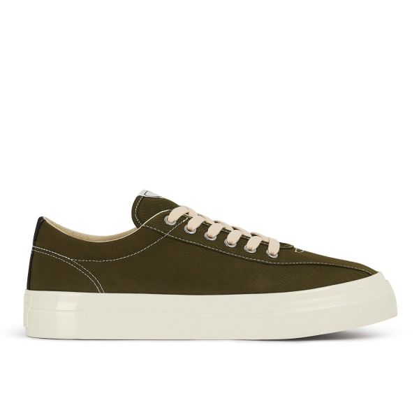 Mens Dellow Canvas Olive Side