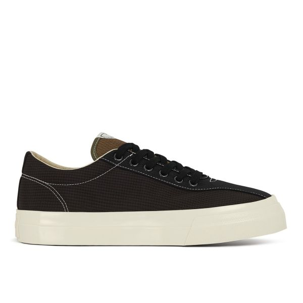 Mens Dellow Mini-Check Nylon Black Side