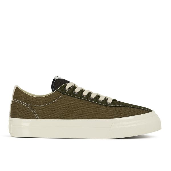 Mens Dellow Mini-Check Nylon Olive Side