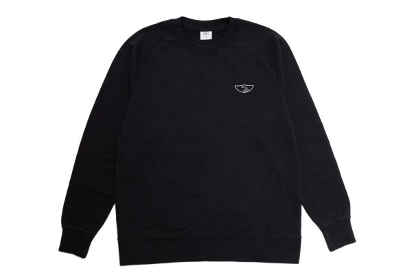Stepney Workers Club Handshake Sweatshirt Black Front