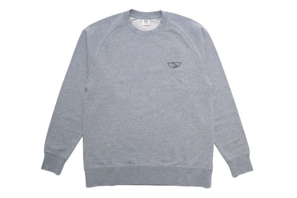 Stepney Workers Club Handshake Sweatshirt Grey Front